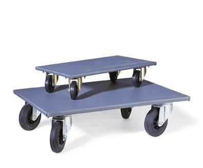 Transporthilfe/Möbelroller, Antirutschbelag grau, bis 300kg