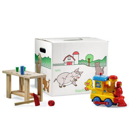 Kinderkarton Bauernhof weiß
