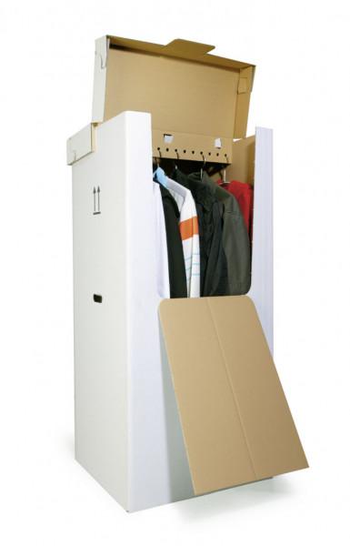 Kleiderkisten-Set, (Kiste+Deckel), weiß marmoriert